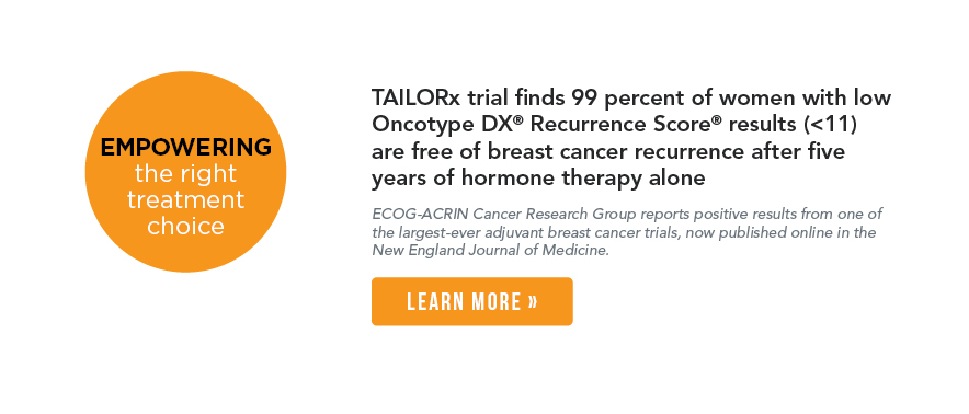 TAILORx Breast Cancer Professional